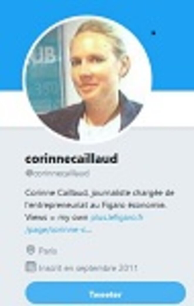 Compte Twitter de Corinne Caillaud