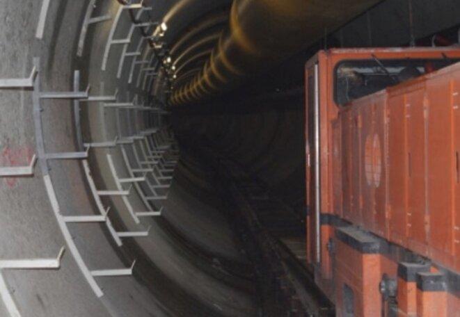 Sur le chantier du Lyon-Turin en 2014 (DR)