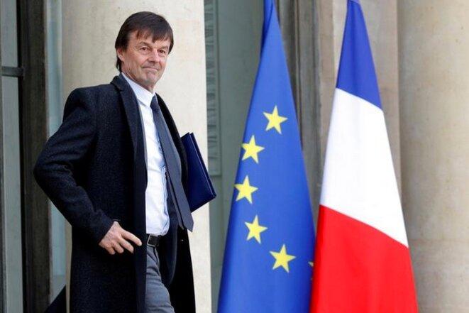 Nicolas Hulot à la sortie du conseil des ministres, le 8 février. © Reuters