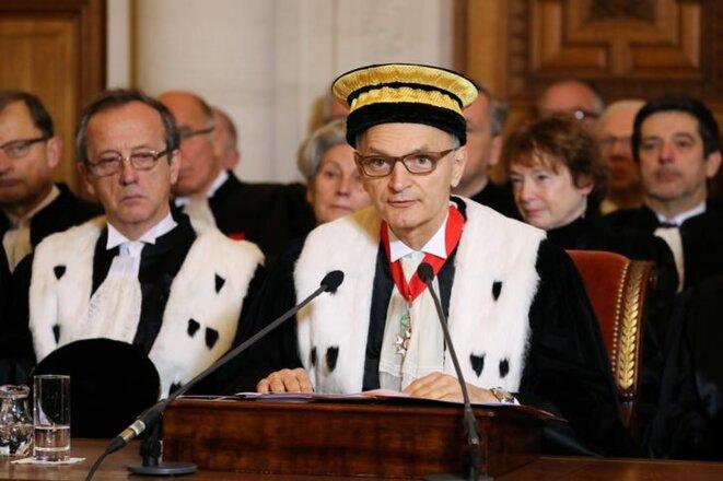 Didier Migaud, premier président de la Cour des comptes, en janvier. © Reuters
