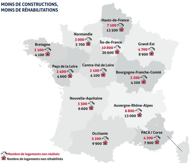 Carte france Impact mesure © USH