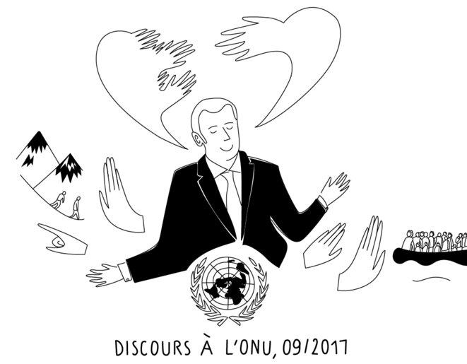 Macron l'humaniste, et en même temps… © Clara Chague