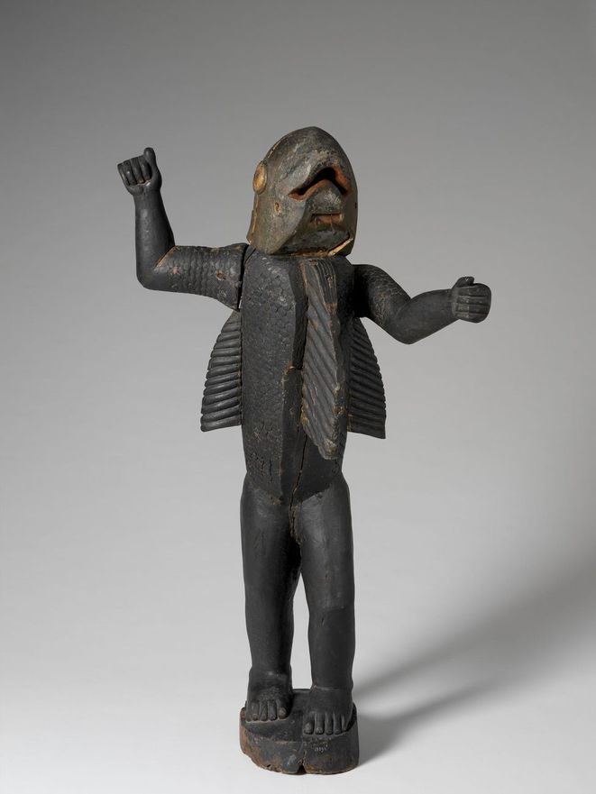 Statue représentant le roi Béhanzin, dernier roi du Dahomey (1890-1894) - Musée du Quai-Branly