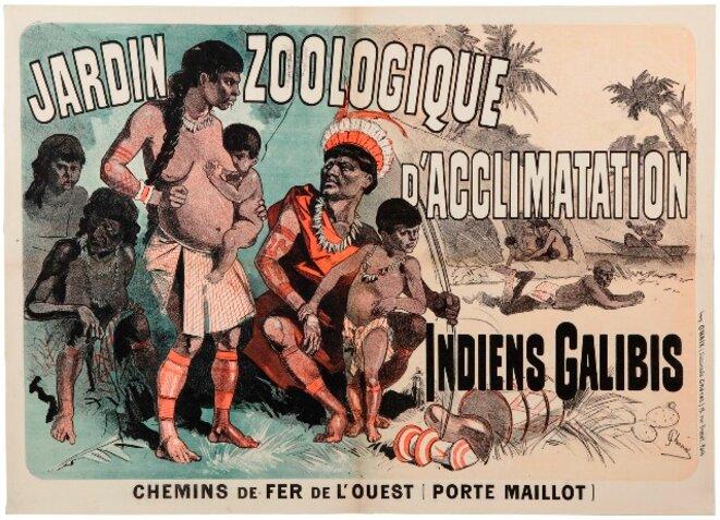 Affiche du Jardin zoologique faisant état d'une de ses «expositions»