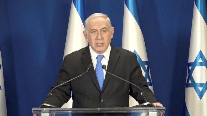 Benjamin Netanyahou s'est adressé en direct aux Israéliens. © DR