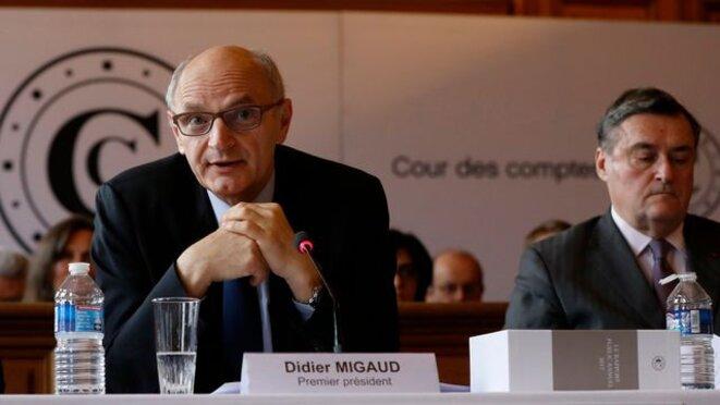 Didier Migaud lors de la présentation du rapport de la Cour des comptes
