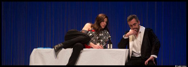 A la Comédie de Picardie, Gaëtan Vassart offre à Anna Mouglalis le rôle sulfureux de Mademoiselle Julie © Ludo Leleu
