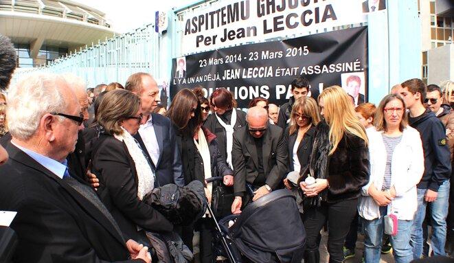 Mafifestation en mémoire de Jean LECCIA un an après son assassinat