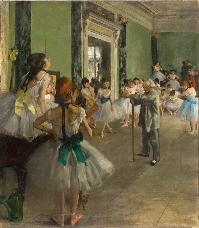 Edgar Degas, La Classe de danse. (Commencé en 1873, achevé en 1875-1876) © Musée d'Orsay Dist. RMN- Grand Palais / Patrice Schmidt