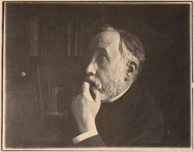 Edgar Degas, Autoportrait de l'artiste dans sa bibliothèque (1895) © Musée d'Orsay, Dist. RMN-Grand Palais / Alexis Brandt