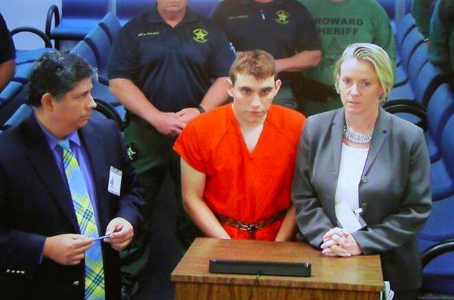 Nikolas Cruz durante su presentación ante el juez, el jueves 15 de febrero en Fort Lauderdale, Florida. © Reuters