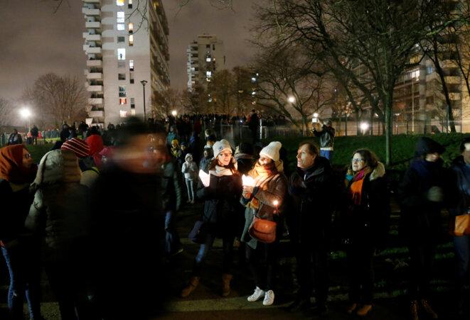 Une marche de solidarité aux migrants, le 21 janvier 2018 à Bruxelles © Reuters / François Lenoir