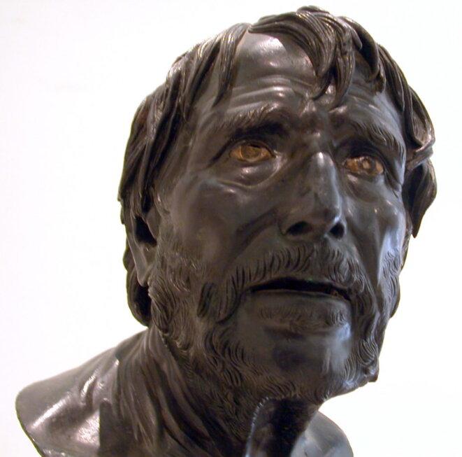 Sénèque (ou pseudo-Sénèque, buste retrouvé à Herculanum)