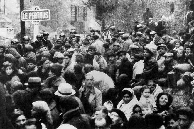 El Perthus, en la frontera franco-española, febrero de 1939. © David Seymour. Museo Nacional de Historia y Cultura de la Inmigración