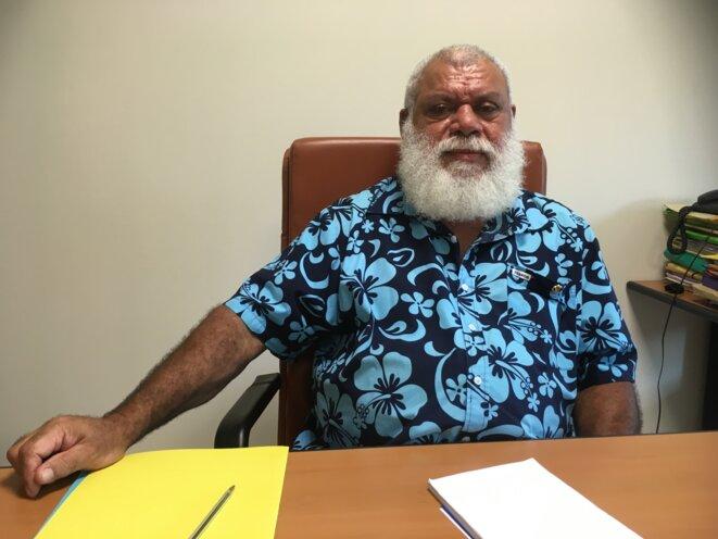Paul Néaoutyine nous reçoit dans son bureau de Nouméa, le 30 janvier 2018. © Carine Fouteau