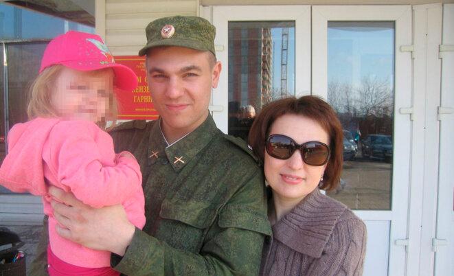 Dmitry Pchelintsev avec sa famille © Archives personnelles