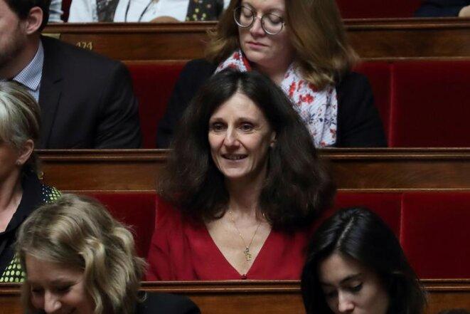 La députée LREM Elise Fajgeles, rapporteur du projet de loi sur l'asile et l'immigration à l'Assemblée nationale, le 20 février 2018. © REUTERS/Gonzalo Fuentes