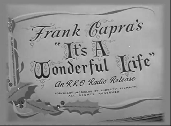 Clin d'œil gentiment sarcastique au génial film de Capra