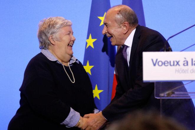 Jacqueline Gourault et Gérard Collomb. © Reuters