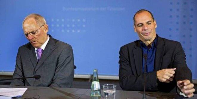 Schauble et Varoufakis