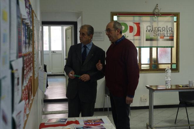 Marco Pinna et Mauro Montauti, à la section PD de Sestri Ponente © AP