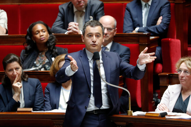 Gérald Darmanin le 12 juillet 2017 à l'Assemblée nationale, à Paris. © Reuters