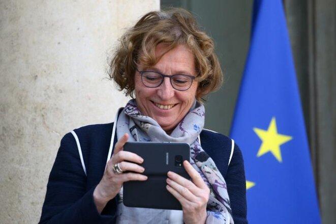 La ministre du travail Muriel Pénicaud à la sortie du conseil des ministres, le 21 février. © Reuters