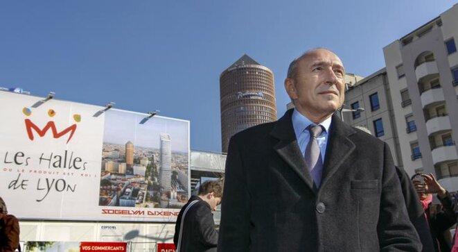 Gérard Collomb à Lyon lors de la campagne des élections municipales, en 2014. © Reuters
