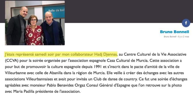 Le député Bruno Bonnell représenté par le collaborateur Hadj Djennas. © Publication Facebook