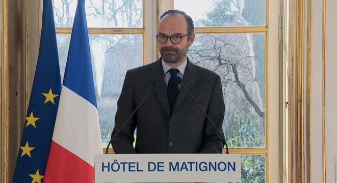 Le premier ministre lors de la présentation du plan gouvernemental sur le ferroviaire, le 26 février 2017 © DR