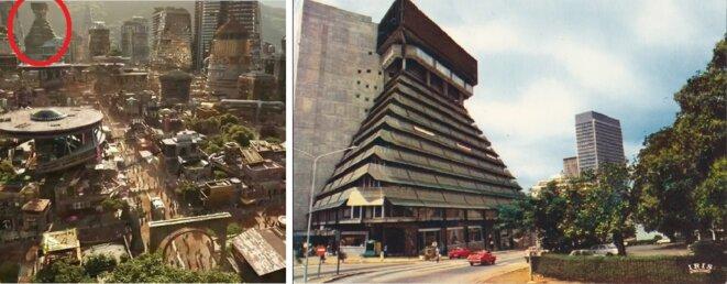 Wakanda, carte postale de la Pyramide d'Abidjan