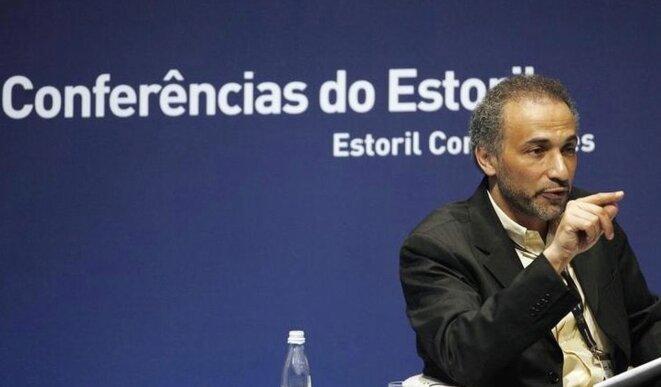 Tariq Ramadan le 9 mai 2009, lors d'une conférence au Portugal. © Reuters