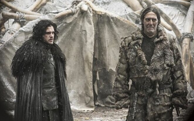 Jon Nieve (à gauche) et Mance Rayder © 'Game of Thrones'