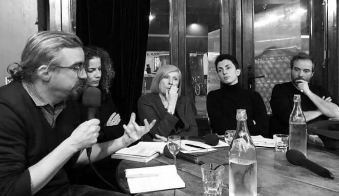 Rencontre organisée par Mémoire des luttes le 14 décembre 2017 avec Chantal Mouffe, Lenny Benbara, Charlotte Girard, Jorge Lago et Christophe Ventura.