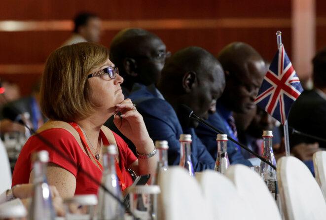 Lors de la dernière assemblée générale d'Interpol, en septembre 2017 à Pékin. © Reuters