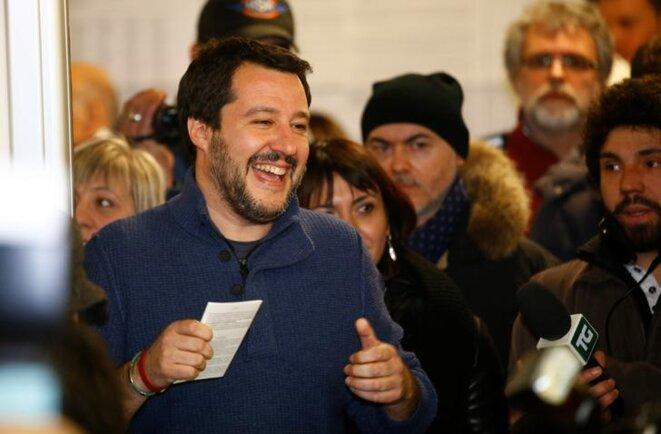 Matteo Salvini, leader de la Ligue du Nord, dimanche à Milan. © Reuters
