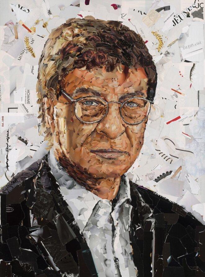 Portrait de Mahmud Darwich par Mustapha Boutadjine © E'M.C. Free Palestine