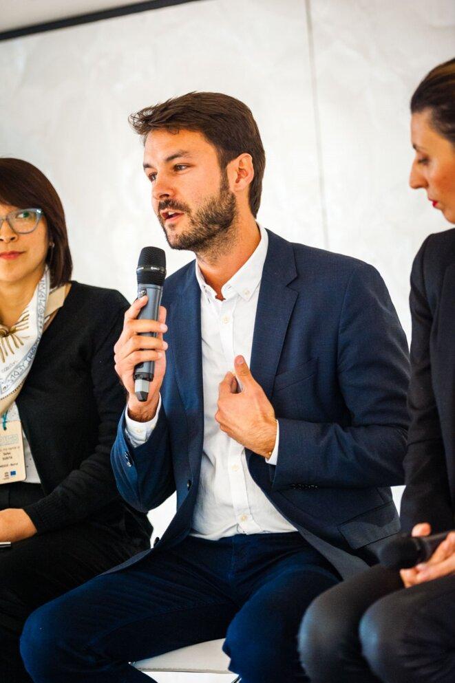 Schams El Ghoneimi et Faten Kallel, Secrétaire d'Etat tunisienne - Débat à l'UNESCO sans mansplaining © UNESCO