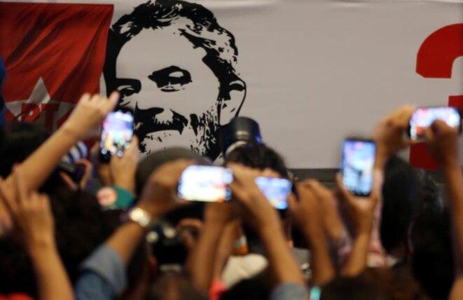 L'anniversaire de la fondation du Parti des travailleurs, le 22 février 2018 à São Paulo. © Reuters