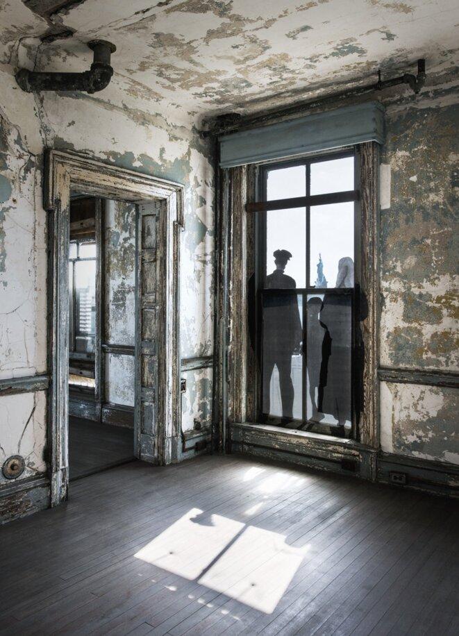 JR, Ellis Island, collage © JR