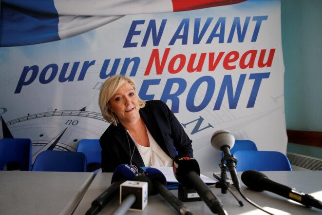 Marine Le Pen à Laon le 18 février 2018 © Reuters / Pascal Rossignol.