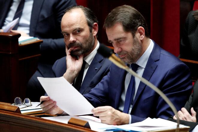 Edouard Philippe et Christophe Castaner à l'Assemblée nationale le 13 décembre 2017 © Reuters / Benoit Tessier.