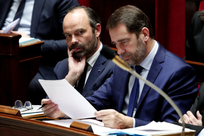 Édouard Philippe et Christophe Castaner à l'Assemblée nationale le 13 décembre 2017. © Reuters / Benoit Tessier.