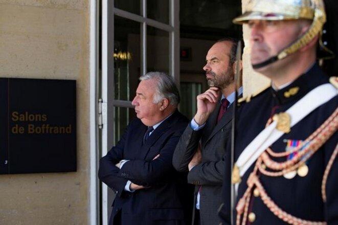 Gérard Larcher et Édouard Philippe, le 17 juillet 2017. © Reuters