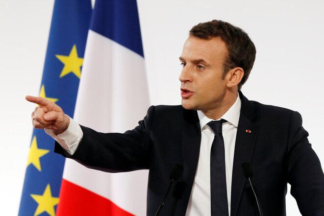 Emmanuel Macron. © Reuters