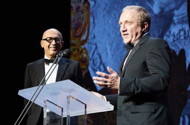 François-Henri Pinault, PDG de Kering (à droite) et le patron de sa filiale Gucci, Marco Bizzarri. © Reuters