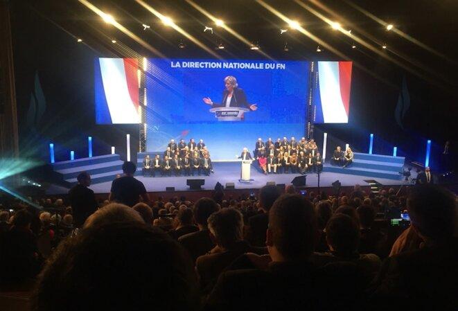 Marine Le Pen lors de son discours au congrès de Lille