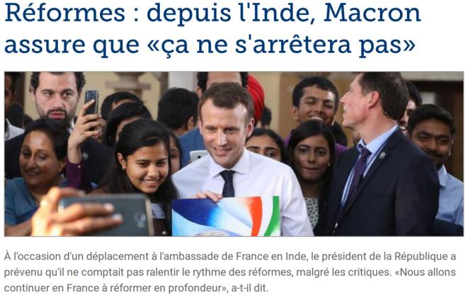 http://www.lefigaro.fr/politique/2018/03/11/01002-20180311ARTFIG00050-reformes-depuis-l-inde-macron-assure-que-ca-ne-s-arretera-pas.php
