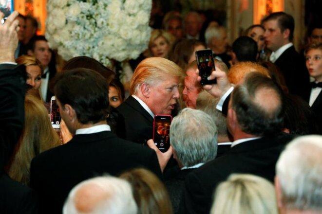 Le 31 décembre 2017, Donald Trump reçoit à Mar-a-Lago (Floride). © Reuters