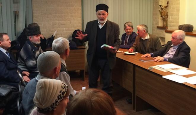 Une table ronde organisée à Kazan en défense de la langue tatare. © A. D.